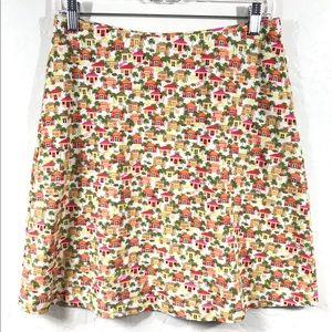 J.Jill Houses Printed Knit Skirt Size XS